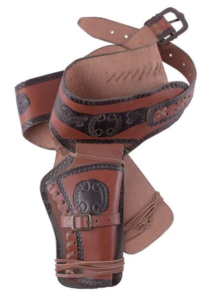 Western Revolvergürtel mit zwei Holstern