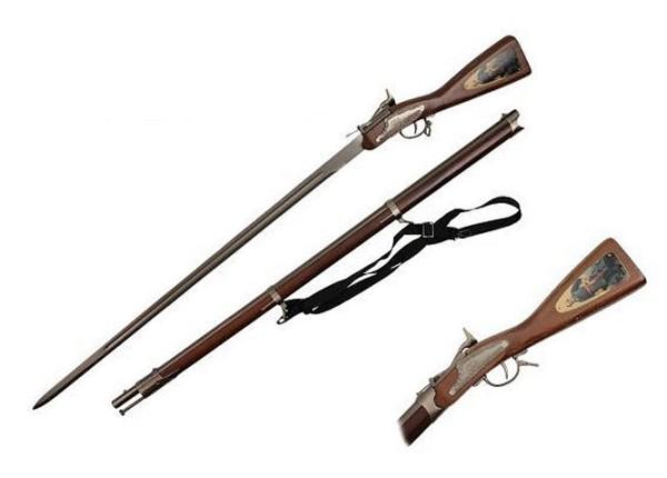 Deko Gewehr und Schwert