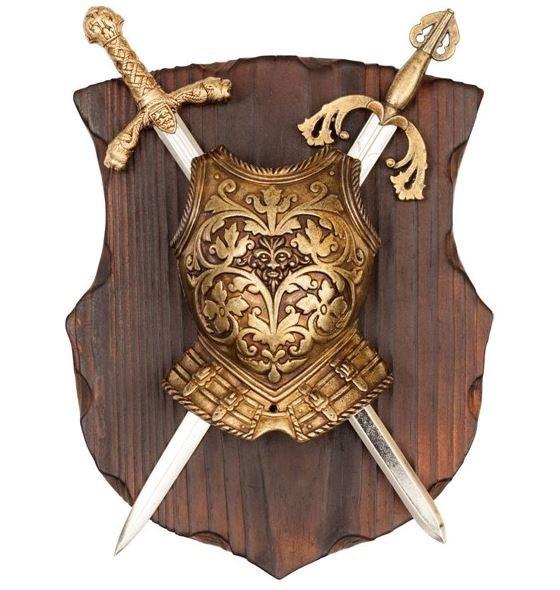 Wandschild Richard Löwenherz mit Schild und Schwertern