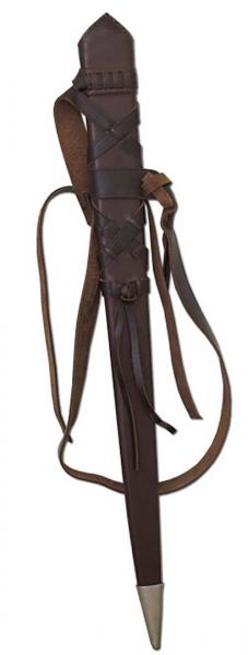 Schwertscheide mit Ledergürtel