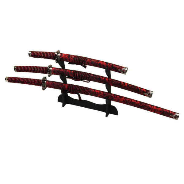 Samurai Schwerter Set Red Dragon