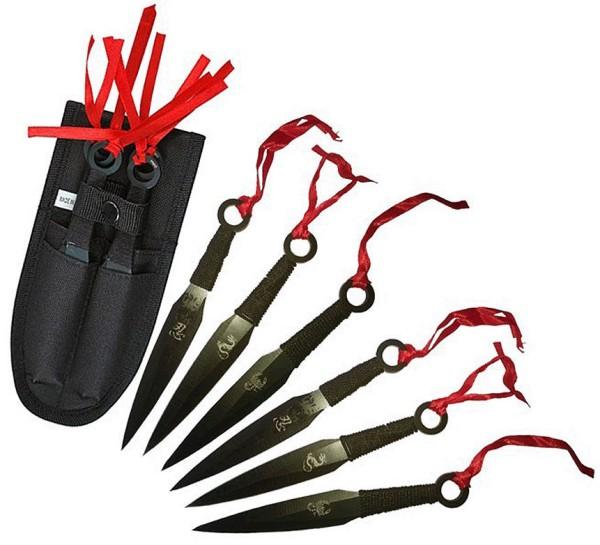 Kunai 6er Set - Drachen Wurfmesser