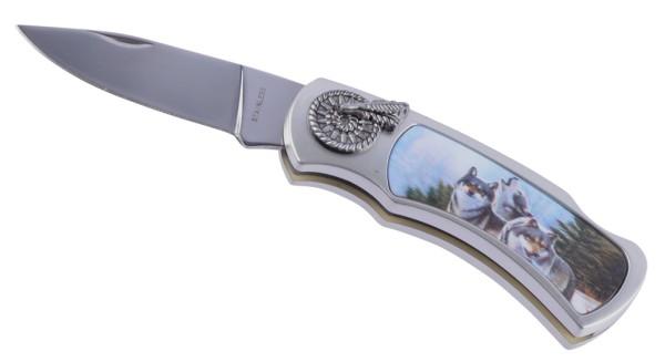Klappmesser Wolfsrudel in 3D Optik