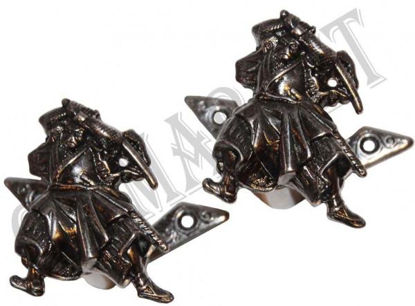 Samurai Wandhalter Set Silber