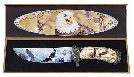Adler Dekomesser mit Holzbox