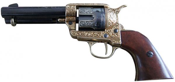 45er Peacemaker Colt messingfarben