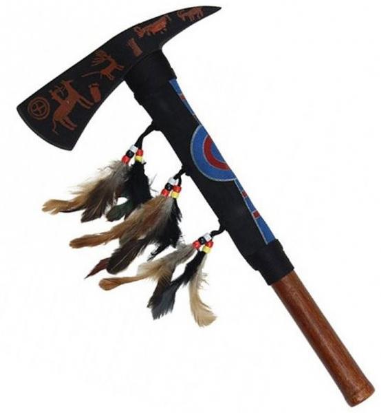 Tomahawk mit Wandschild