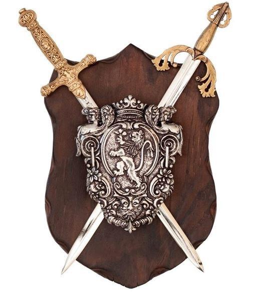 Wandschild El Cid mit Schild und Schwertern