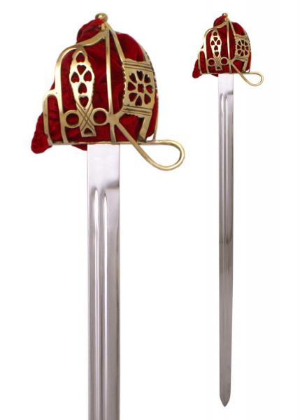 Schottisches Breitschwert mit Scheide