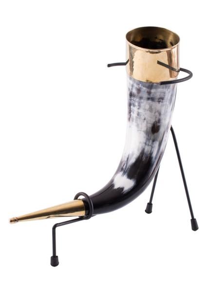 Wikinger Trinkhorn mit Ständer
