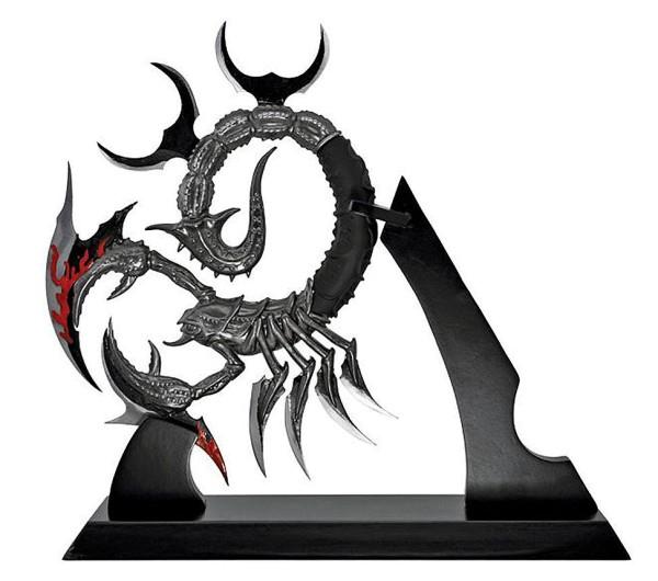 Fantasy Dolch Skorpion mit Tischständer