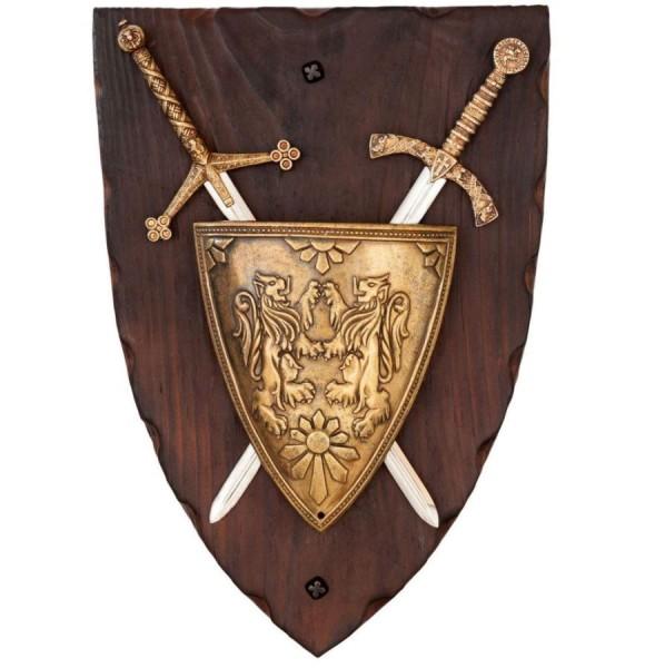 Wandschild Braveheart mit Schild und Schwertern