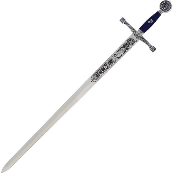 Schwert Excalibur silber-blau