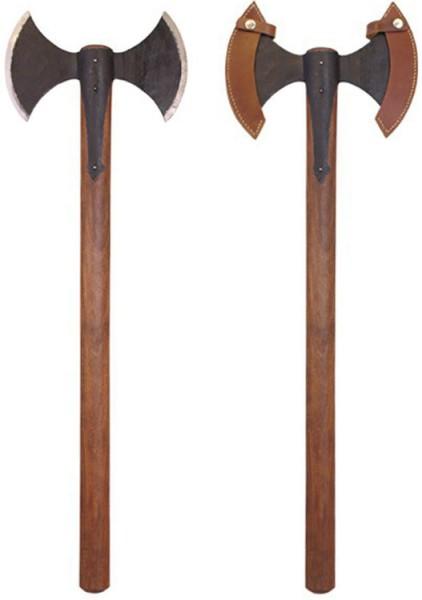 Mittelalterliche Wikinger Doppelaxt